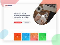 Student Homestay Website Design - Home Page