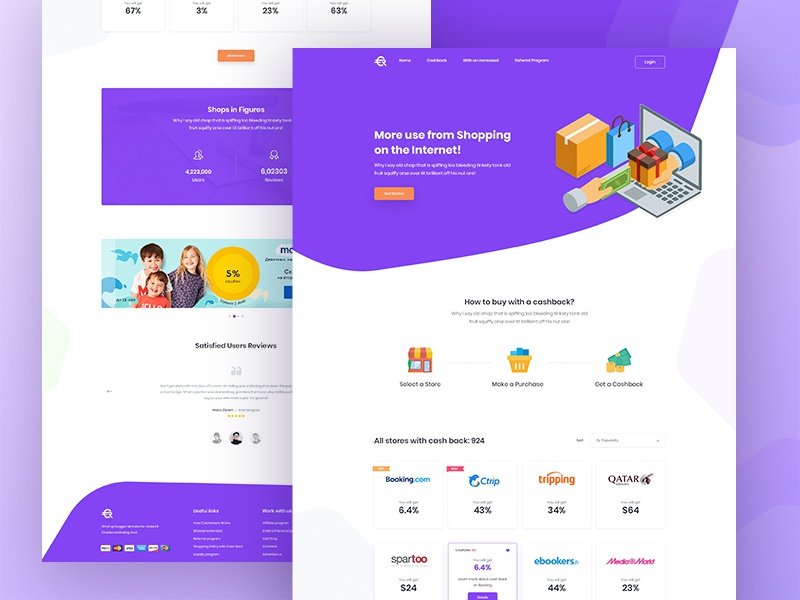 Cashback Deal Website Design By Md Shahadat Hussain Dribbble