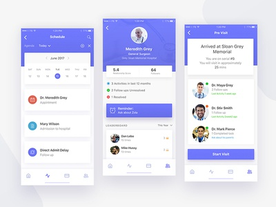 Medical/Healthcare Appointment Mobile App Design ui ux ui design ux design app design mobile app design iphone application design ios design android design mobile ui mobile application