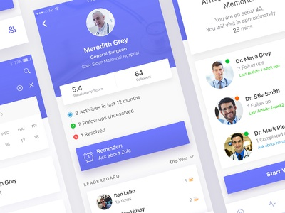 Medical Healthcare Scheduling iOS Mobile App mobile application mobile ui android design ios design iphone application design mobile app design app design ux design ui design ux ui