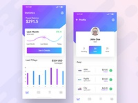 Financial App UI Kit Design - WIP
