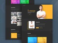 Personal Resume & Portfolio Design WIP - Dark