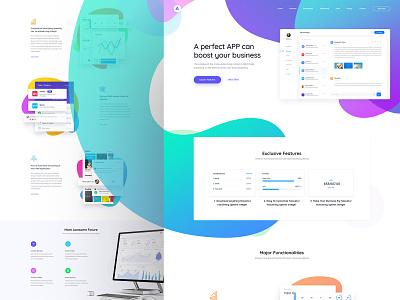 Appland - App, Software, Saas, Startup WordPress Theme ui landing illustration web application design uiux ux design website design landing page web design ui design ux