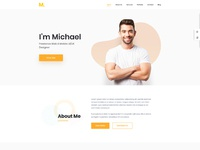 Mak personal portfolio cv vcard resume wordpress theme by droitlab home 1