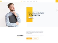 Mak personal portfolio cv vcard resume wordpress theme by droitlab home 3