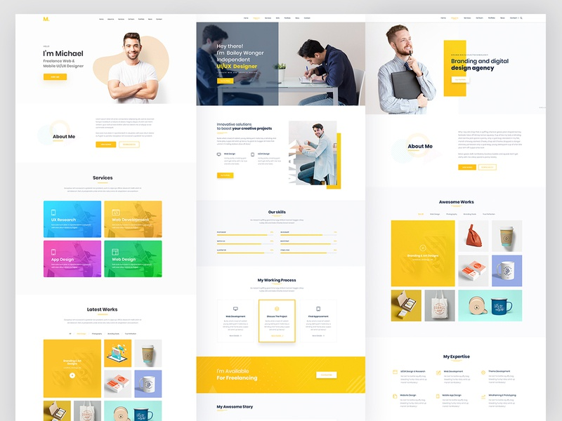 Wordpress Theme Designs Themes Templates And Downloadable Graphic Elements On Dribbble