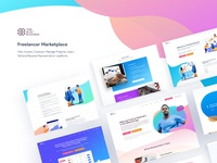 Freelancer Marketplace B2B & B2C Website Design Work Page II