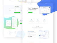 Saas application website landing page design by droitlab