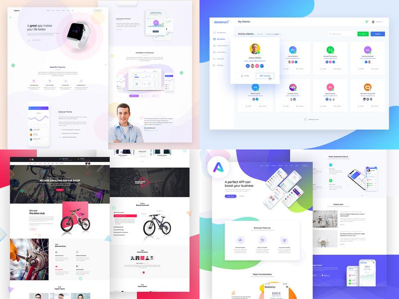 2018 best of 2018 2018 year review landing landing page design website design landing page uiux web design ux design ui design ui ux