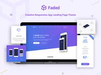 Faded - App Landing Wordpress Theme On ThemeForest