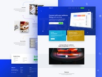 Client Portal And Project Management System Design-Home Page
