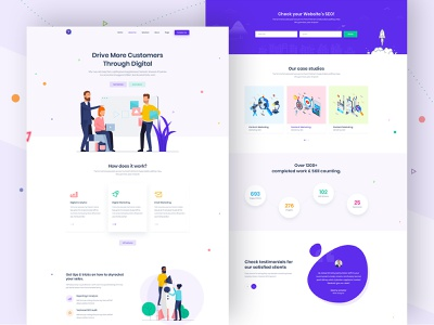 SaasLand - MultiPurpose WordPress Theme for Saas & Startup by Md. Shahadat  Hussain for DroitLab on Dribbble