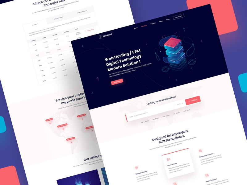 Saasland Multipurpose Wordpress Theme For Saas & Startup Hosting wordpress theme illustration ui design theme design landing landing page design landing page website design web design uiux ux design ui design ux