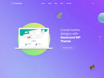 Full Screen Scrolling Agency Demo - Saasland startup theme startup saas design uiux ui design website design web design colorful wordpress theme agency saas landing page saas
