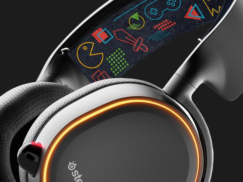 Steelseries headband design for Artics 5 pattern graphic design contest esport gaming headband headphones headset steelseries