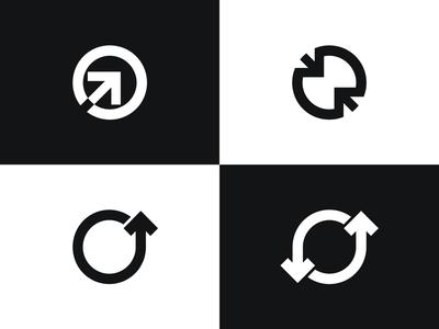 "Letter ""O"" logo exploration arrow negative space negative space simple mark o logo exploration letter o logo circle logo circle logo exploration logo design logo arrows logo arrows o mark o logo letter o"