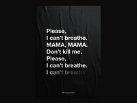 I can't breathe poster 02 racism poster design poster minneapolis icantbreathe george floyd blacklivesmatter