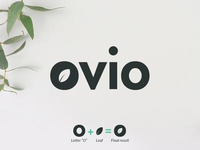 Ovio logo simple nature leaves leaf negaivespace fruit logodesigner designer design logodesign logo
