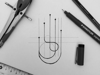 Sketch of bionic hand technology hand bionic mark logomark logos sketch design logodesign logo