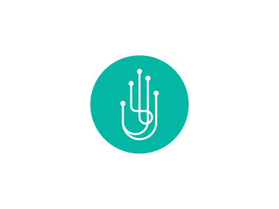 Bionic hand simple mark bionic hand green vector graphicdesign logodesign design logo
