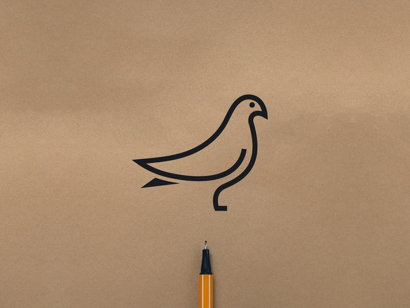 Pigeon logo mark pigeon logo pigeon mark bird mark bird logo line logo icon illustration branding mark pigeon bird logodesign simple design logo