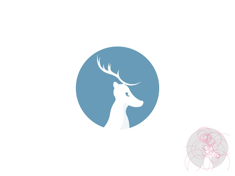 Deer logo logo logodesign simple logo exploration simple deer deer design grid construction grid logo grid mark deer mark christmas deer cute deer cute deer logo deer