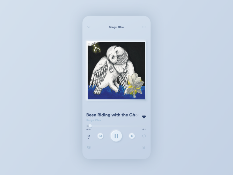 Skeuomorph Spotify redesign trend modern skeumorph ux ui minimal trend2020 new trend music app music music player app design spotify redesign spotify ios skeumorph app skeumorphic design skeuomorphism skeuomorphic