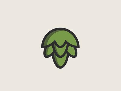 Hoppy logo beer art minimal clean bold illustration logo beer branding icon hoppy beer hop