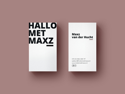 First Dribbble post branding simple minimal bold clean business card