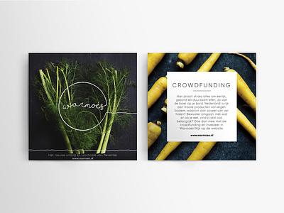 Warmoes flyer clean deventer comingsoon vegetable rotterdam minimal logo