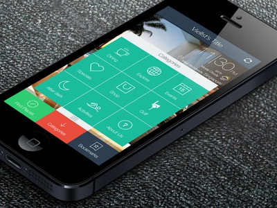 iOS 7 application for iphone 5 Flat