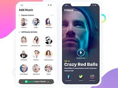 Music App 3 clay mobile app responsive ux ui minimal clean flat iphone 8 iphone x