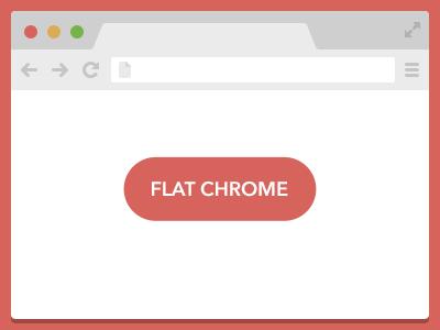 Flat Chrome ui flat browser chrome download psd freebie vector