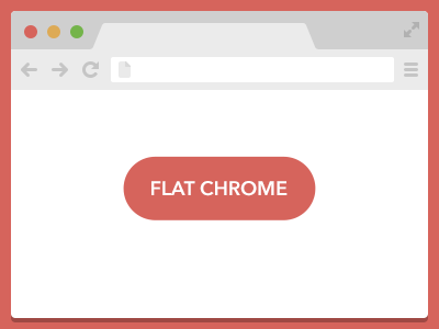 Flat Chrome ui flat browser chrome download psd freebie vector
