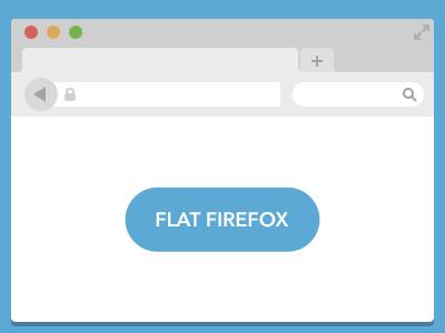 Flat Firefox ui browser freebie vector flat firefox user interface