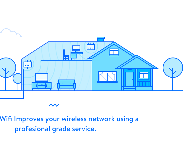 Home Wifi illustration icon ui