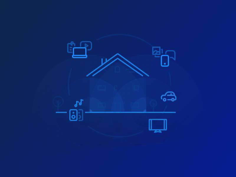 Home wifi wireless wifi home icons illustration ui