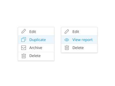 Drop-downs icons ux ui