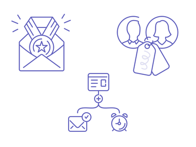 Feature Icons outline illustration ux ui features icons