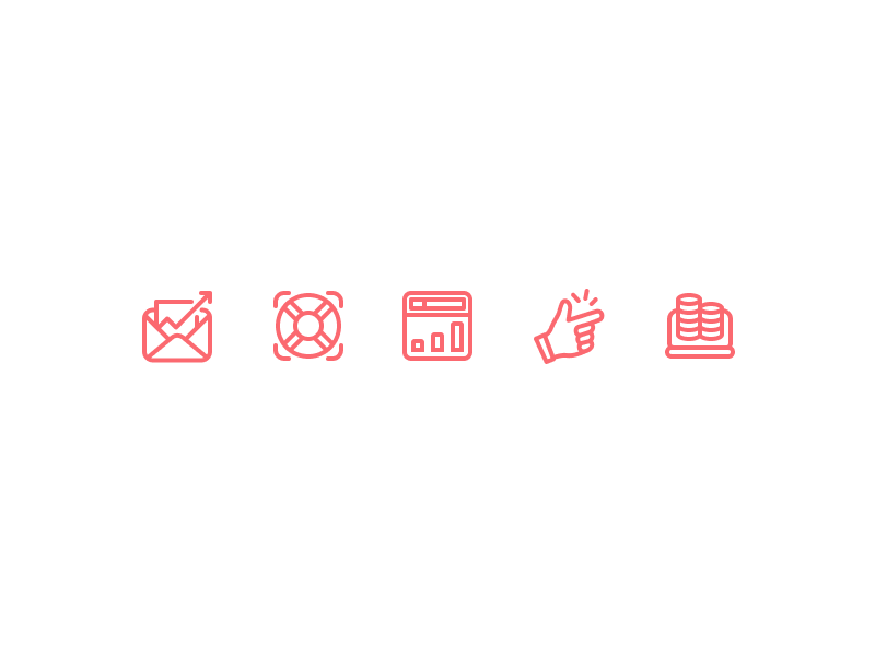 Sales Icons money ease app support email ui icons