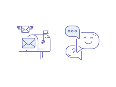 Iconz ux design ui mail bubbles icons