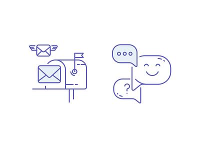 Iconz ux design ui mail bubbles icons