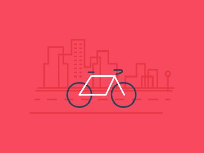 City Bike bike illustration