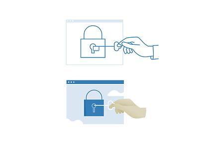 Privacy icon illustration