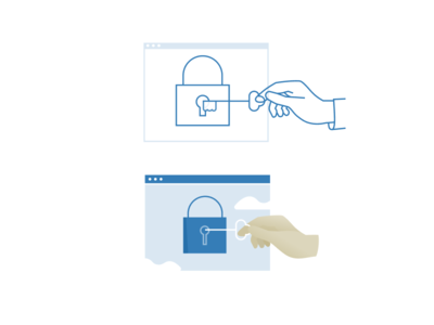 Privacy icon illustration