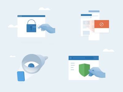 Privacy Illustrations ui icons illustrations