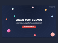 DailyUI #003 Landing Page gradient cosmos space landing page game dailyui mobile sign up ui ux