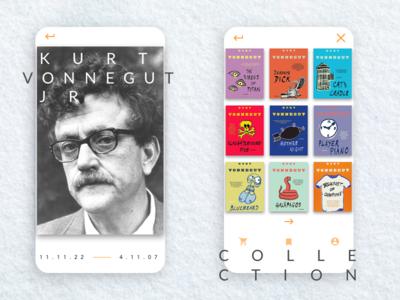 Info Card - Kurt Vonnegut info card daily ui 45 ux ui design flat app