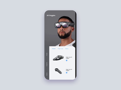 Magic Leap ar goggles ar glasses augmented reality ar illustration iphone x invision studio invision interaction daily ui flat animation design mockup ux ui