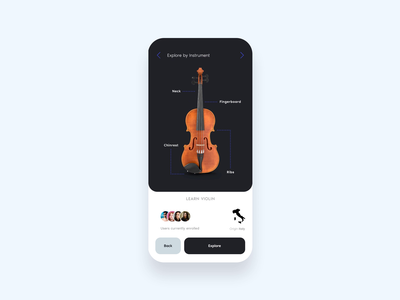 Sounder education video playlist navigation pagination mobile motion player instrument learning music prototype illustration invision studio invision interaction daily ui app animation mockup